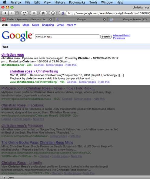 I Google'd myself. Again.