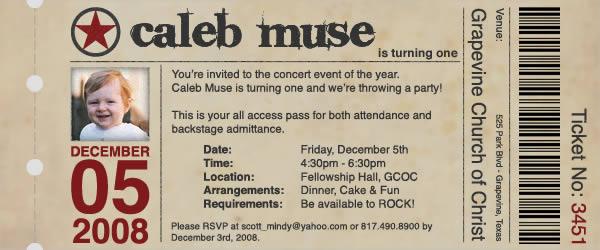 Caleb Birthday Invitation