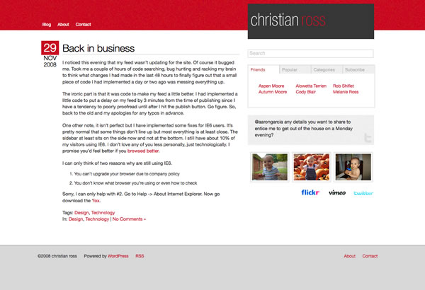 Christian Ross .net - Version 2