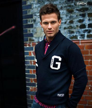 Gant Varsity Sweater - blue