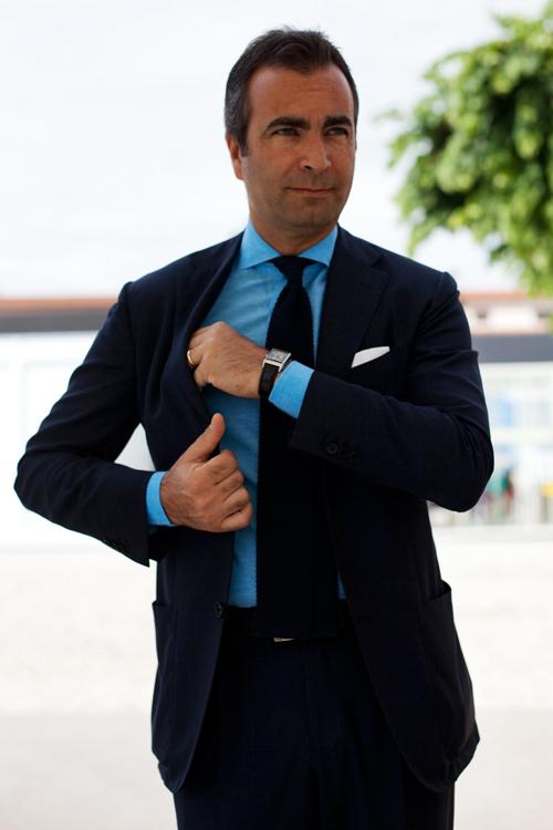 Bold Blue Suit - Sartorialist