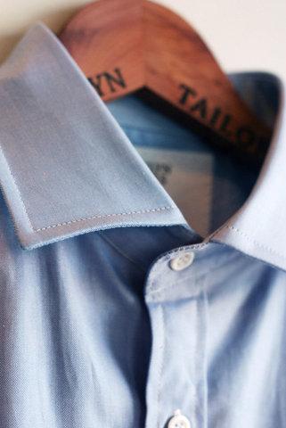 Brooklyn Tailors - Blue Twill Spread Collar