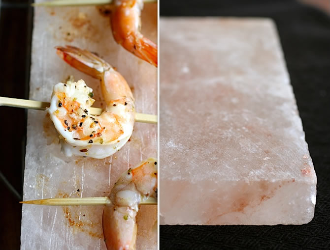 Himalayan Salt Plate - Shrimp
