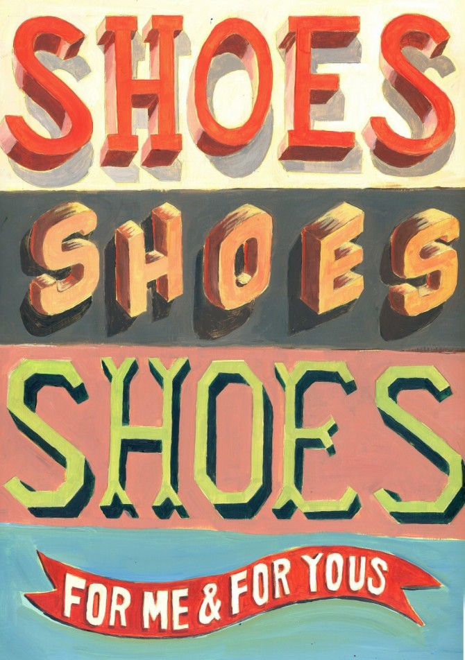 Jeff Rogers illustration - Shoes Shoes Shoes