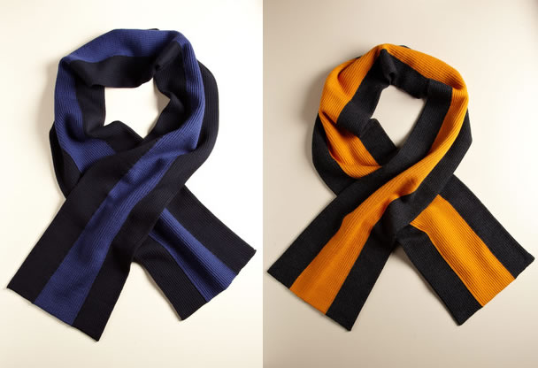 Contrast Stripped Scarves