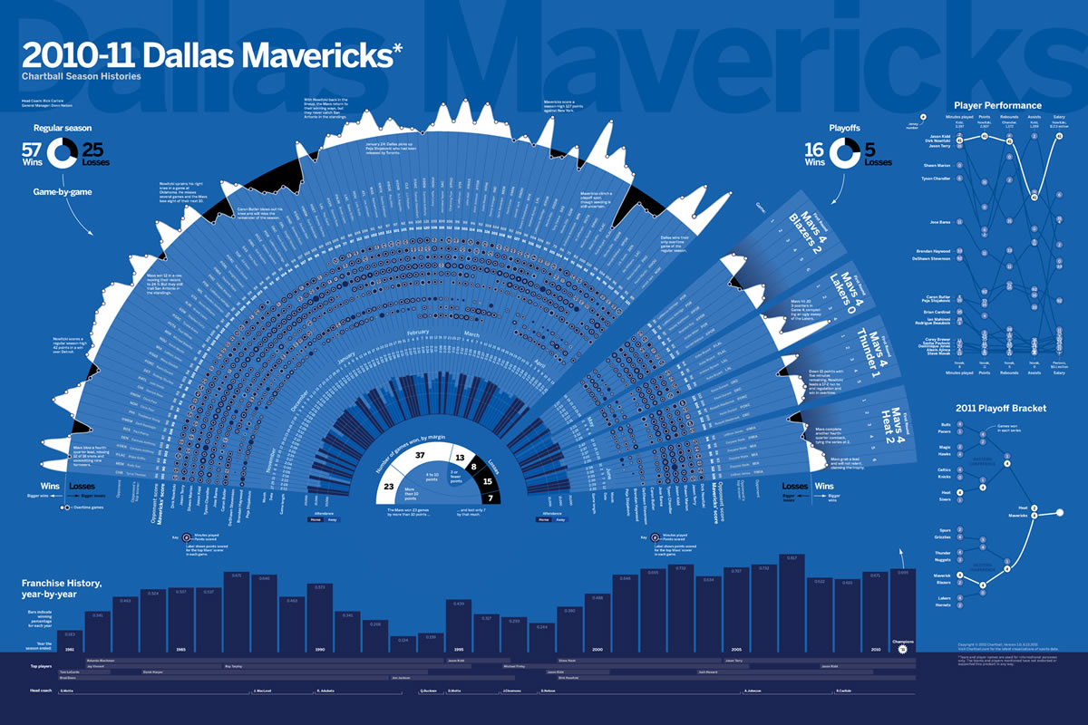 Dallas Mavericks - 2011 NBA Champions Infographic