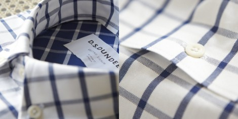 D.S. Dundee - Blue Plaid Shirt