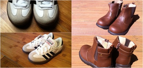 Cohen's new shoes - adidas Kids Samba® Classic Core & Children's Place - Classic Brown Boot