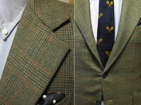 1960s Olive Glen Plaid Two Button Suit - Newton Street Vintage