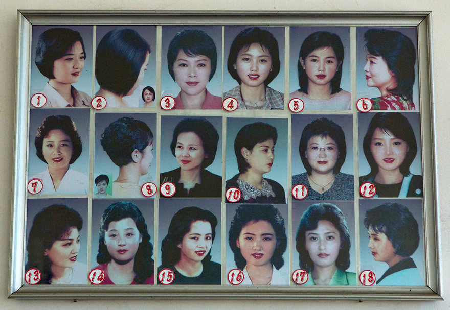 North Korean ladies hairstyles