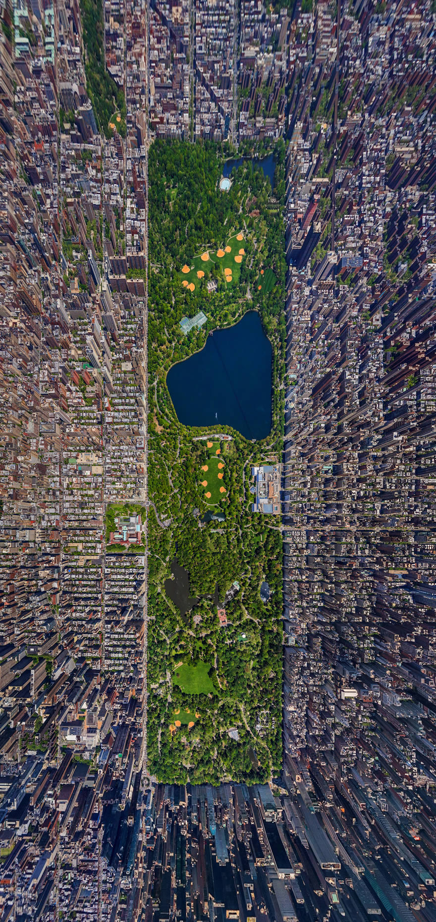 New York City Central Park - from above