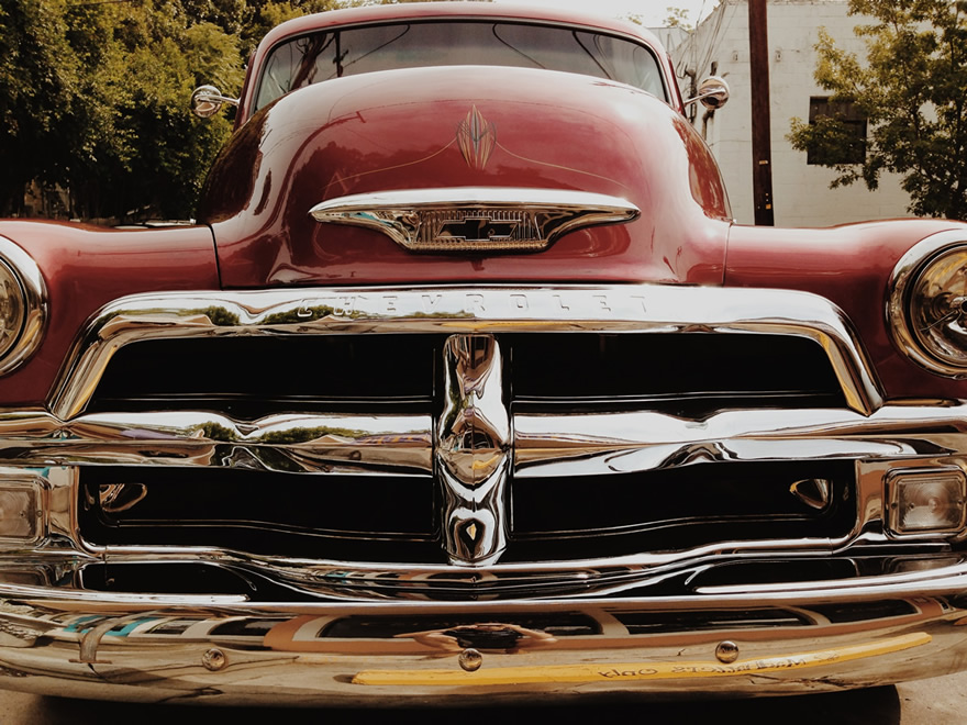 Chevrolet with pinstripes.